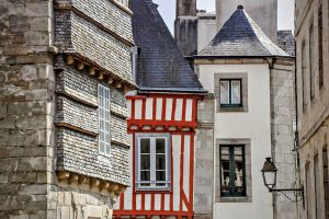 Red half-timbering of Brittany - France by Laurent-Dubus