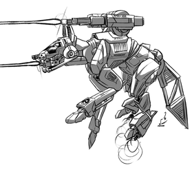 RFX-A2 Red Fox BattleMech by prdarkfox