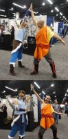 Korra meets Aang... by slifertheskydragon