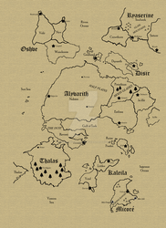 Fantasy World Map by MSWatsonOfficial