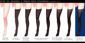 HOW TO SHADING THE THIGH HIGH STOCKINGS by SwordwaltzWORKS