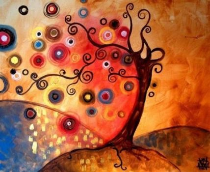 Beautiful Tree Abstract painting by VerlaKriz