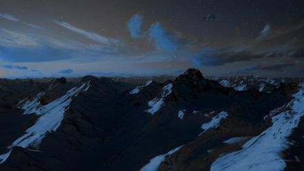 Majestic Mountain Ranges by StArL0rd84
