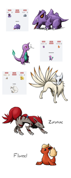 Pokemon Fusions by BlazeDGO