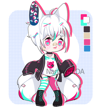 Adopt Auction Cat Horror Punk  [ CLOSED ] by Nanayuu