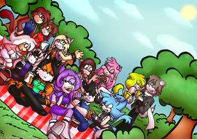 . : Lovely day for a picnic : . (collab) by nyxchi-u
