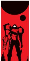 Metroid Red Planet by Artist Tom Kelly by TomKellyART