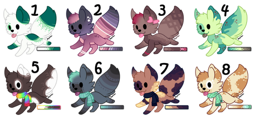 Foxies Adoptables [CLOSED] by Gabrielle-adopties