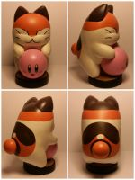 Nago and Kirby custom amiibo by Aubrey891