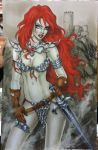 Red Sonja NYCC 2013 commission by Dawn-McTeigue