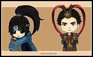 Xin Zhao and Jarvan by Maebees