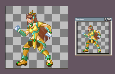 Lunette Reploid Idle animation WIP by Meeche-Max