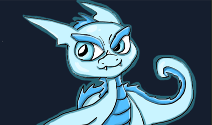 One of many Ice Dragons by LifeDragon17