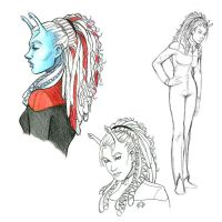 Andorian sketches by AlainaM