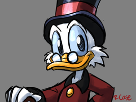 Scrooge McDuck doodle by rongs1234