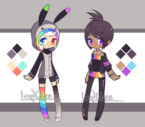 { open } Chibi adopts by IvonChee