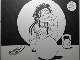 Inktober 2018 No.7 Exhausted by MikeES