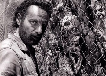 Rick Grimes - The Walking Dead by Chrisbakerart