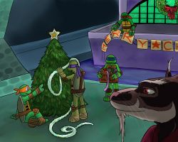 TMNT - Decorating the Lair by Myrcury-Art