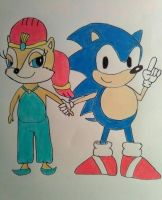Sonic and Sally's Childhood by dwaters220