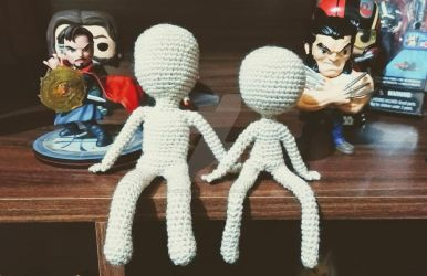 Amigurumi dolls by CrochetNinjaCL