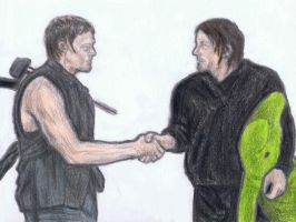 Daryl Dixon and Norman Reedus by gagambo