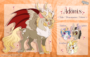 Adonis - MLP Fanchild Reference Sheet by Amanddica