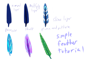 Feather Tutorial - paint tool sai - redo by Cians-Sacred-Lair