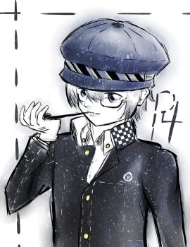 Detective with a Blue Hat - P4 by MitsukoOtsuki