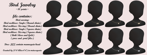 MMD Bird jewelry ~30 points~ DL by 0-0-Alice-0-0