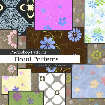 Floral Photoshop Patterns by redheadstock
