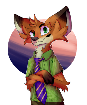 Zootopia Nick by Galaxy-Spider