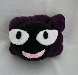 Cute Gastly Plush Pillow by Gemlettuce