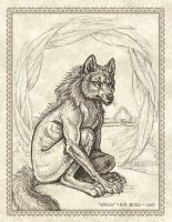 Green Spirits: Willow - Wolf by synnabar