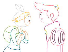 Adventure Time- Fionna and PG by Luuandherdraws