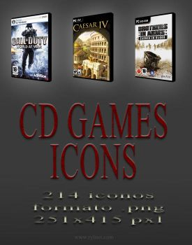 CD Games Icons by muchografico