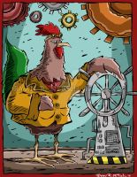Steampunk Rooster - Ryan R. Nitsch by RyanNitsch