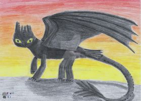 Soyun, the nightfury by Okiro13