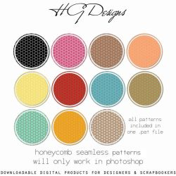 Honeycomb Seamless Patterns by HGGraphicDesigns