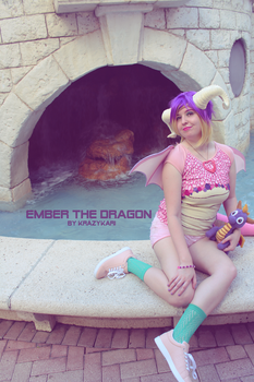 (Spyro) Ember the Dragoness Cosplay by KrazyKari
