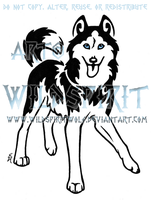 Meeka Husky Tattoo by WildSpiritWolf