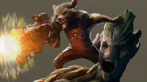 Groot and Rocket by dubz002