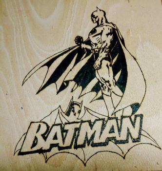 Batman Pyrography Wall Hanging  by MadeByNerds