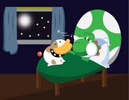 Yoshi and Poochy's Lullaby by gemstonelover49