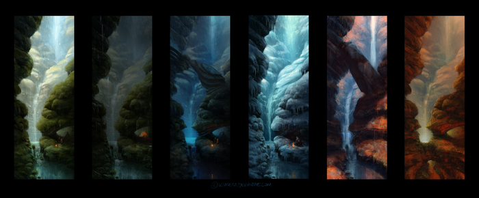 Waterfall ideas by Kiarya