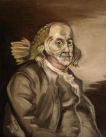 Ben Franklin (as a fish) by nellems