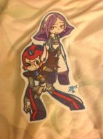 Axl and lumine (bookmark) by RichHoboM3