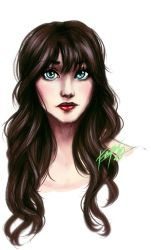Zooey Deschanel sketch - coloured by riotfaerie