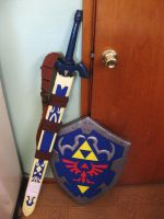 Master Sword and Hylian Shield by SSLinkDSC