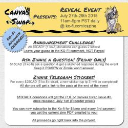 Canvas Swap Event! Day 1! ASK ZINNIE OPEN! by Temrin